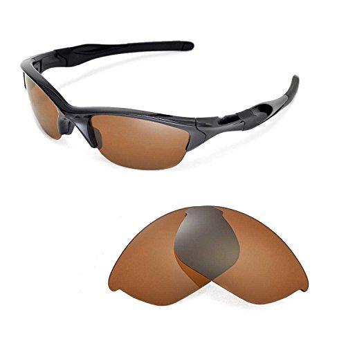 Walleva Ersatzgläser für Oakley Half Jacket 2.0 Sonnenbrille - Mehrfache Optionen (Braun - polarisiert)