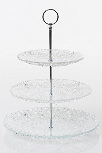3 étages style vintage en verre support à gâteau Cupcakes pour mariage après-midi Thé