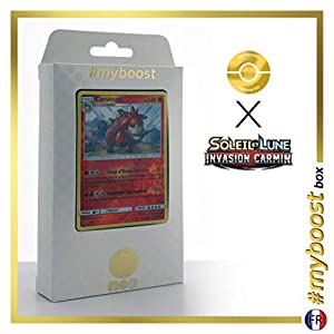 Camerupt 14/111 Holo Reverse - #myboost X Soleil & Lune 4 Invasion Carmin - Box de 10 Cartas Pokémon Francés