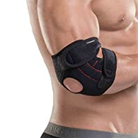 Senston Adjustable Breathable Neoprene Elbow Brace Elbow Support Arm Wrap Strap - Provides Support and Ease Pains