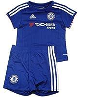 Chelsea FC Adidas blu casa bambino mini calcio pantaloncini set kit 2015–16
