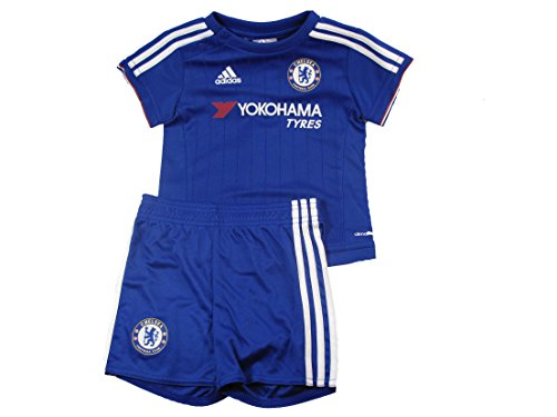 Chelsea FC Adidas blu casa bambino mini calcio pantaloncini set kit 2015-16