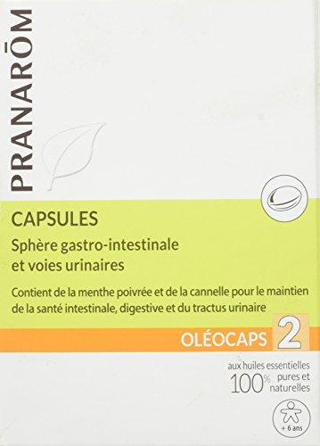 Pranarôm Science Oléocaps 2 Gastro-Intestinal Sphere and Urinary Tract 30 Capsules