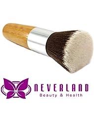Neverland Flat Top Bamboo Wooden Foundation Powder Bronzer Make up Brush