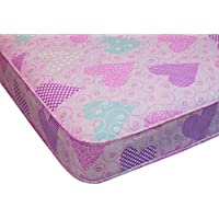 Single mattress pink love heart material 90cm x 190cm, 3ftx6ft3 single mattress