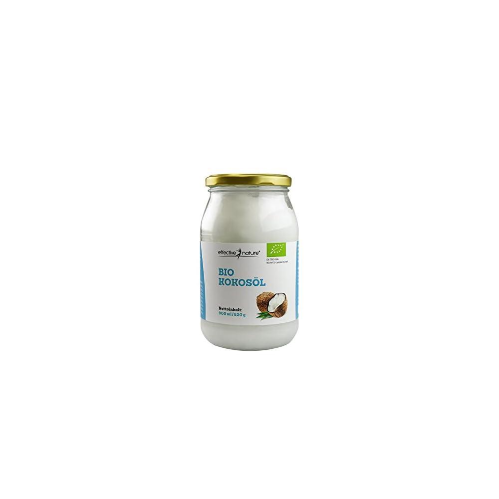 Effective Nature Bio Kokosl Nativ Geeignet Fr Die Kalte Und Warme Kche 900ml Kaltgepresstes Rohkostl Feines Kokosaroma