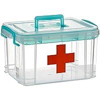 Mizii Medizin-Box Kunststoff-Aufbewahrungsbox Aufbewahrungsbox Doppel-Box Medizinische Aufbewahrungsbox Mit Trennwand... preisvergleich bei billige-tabletten.eu