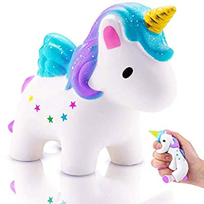 Squishy Unicornio,Squishys Kawaii Slow Rising Para Niños Y Adultos Squishys Kawaii No Tóxico Juguetes Antiestres Squeeze Toy Regalo de Navidad Antiestres Squishy de Eholder