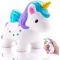 Squishy Unicornio,Squishys Kawaii Slow Rising Para Niños Y Adultos Squishys Kawaii No Tóxico Juguetes Antiestres Squeeze Toy Regalo de Navidad Antiestres Squishy (squishy unicornio)