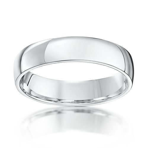 Theia Palladium 500, Heavy Weight, Court Shape 5mm Wedding Ring - Size U