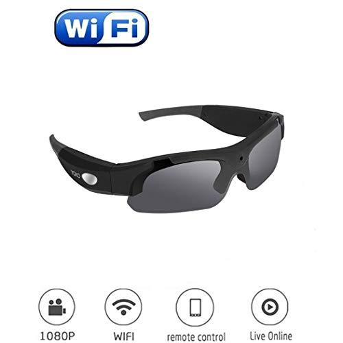 YONGYONG-Sunglasses WiFi HD Smart Mode Kamera Brille Outdoor Bergsteigen Radfahren Sport DV Digital Brille (Farbe : Schwarz)