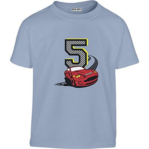 Geschenk zum 5. Geburtstag Jungs Auto Kleinkind Kinder T-Shirt - Gr. 86-128 116/128 (5-7J) Hellblau (Geschenke Zum Geburtstag Für 1 Jährigen Jungen)