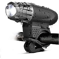 LED Fahrradlicht Frontlicht, Zknen® USB Wiederaufladbare LED Fahrradlichter Set, LED Fahrradbeleuchtung Set inkl Frontlicht, Wasserdichte Fahrradlampe