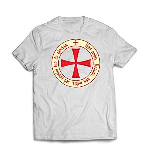 lepni.me Männer T-Shirt Der christliche Ritterorden der Tempelritter, Kreuzritter Kreuz (Small Weiß Mehrfarben) (Navy Old Bei T-shirts Halloween)