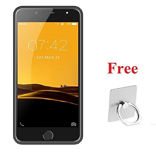 I KALL K1 Black 5 Inch Display (1+8GB) 4G Volte Smart Phone With Freebie Fingure Ring Mobile Holder (Assorted Color)
