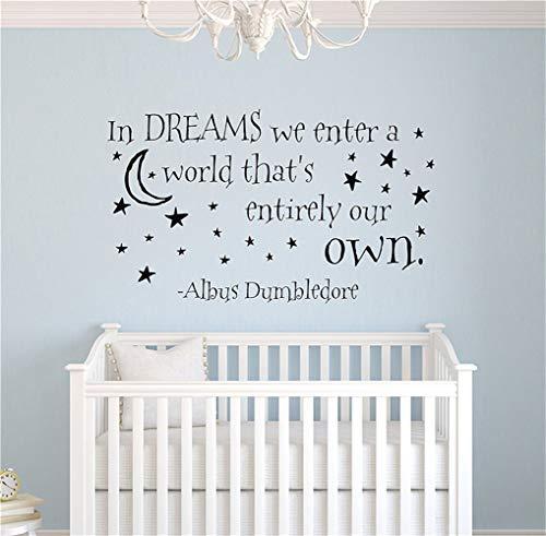 wandaufkleber 3d blumen In Träumen treten wir in eine Welt ein, die unser eigener Wandtattoo Vinyl Aufkleber Zitat Harry Potter Albus Dumbledore ist (Dumbledore-zitat-aufkleber)