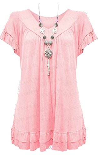 Vanilla Inc New Ladies Womens Gypsy Frill Hippy Plus Size Necklace Top UK SIZE 12-30 Test