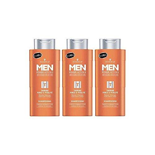 Schwarzkopf Men - Shampoo Kraft & Vitalität - Taurin für Herren 250 ml - 6 Stück