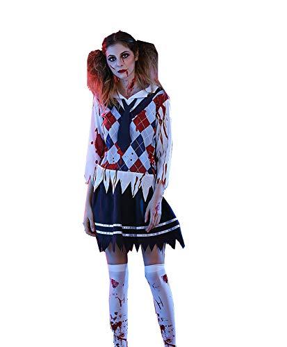 Halloween Ghost Festival Horror Bloody Student Uniform Versuchung Blood Halloween Kostüm Erwachsene Weibliche Schüler - Weibliche Kostüm Horror