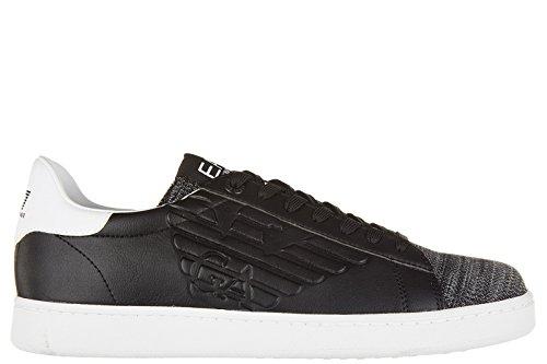 Emporio Armani EA7 scarpe sneakers uomo nuove originale classic premium nero EU 42 278080 7P299 00020
