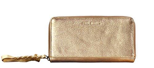 b5cc444c9a4d Paul Marius LE PORTEFEUILLE CHARLOTTE Doré portefeuille femme cuir de vachette  pleine fleur