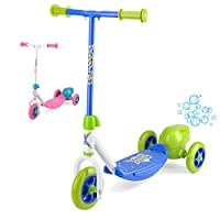 Xootz Kids Bubble Scooter, 3 Wheel Kick Scooter with Bubble Blower