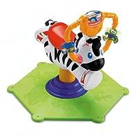 Mattel K0317 - Fisher-Price Hipp Hopp Zebra, Schaukeltier