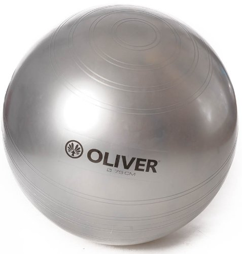 OLIVER Gymnastikball Gymball Silver Collection 75 cm Therapie Ball Sitzball