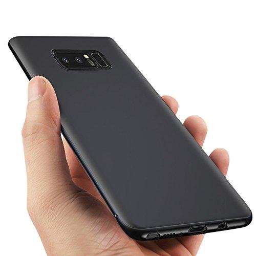 Coque Galaxy Note 8, Vitutech Housse Galaxy Note 8 Case Noir Très Mince Flexible Résistant aux rayures Coque Silicone Samsung Galaxy Note8 TPU Bumper Coque - Noir