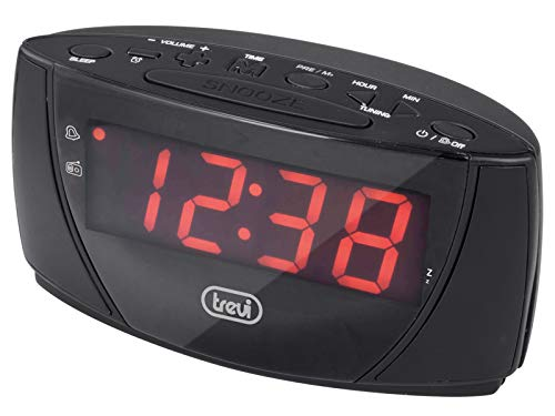 Trevi RC 845 B Radiosveglia FM, Nero, 16 x 8 x 8...
