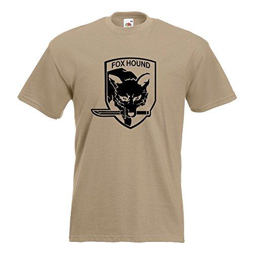 KIWISTAR - Fox Hound Motiv2 T-Shirt in 15 verschiedenen Farben - Herren Funshirt bedruckt Design Sprüche Spruch Motive Oberteil Baumwolle Print Größe S M L XL XXL Khaki