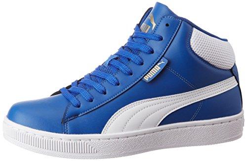 Puma Men's 1948 Mid Dp True Blue, Puma White and Gold Sneakers - 6 UK/India (39 EU)
