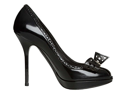 Christian Dior Femmes Chaussures à talons hauts Cuir verni Noir