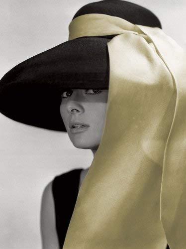 Audrey Hepburn - Hut Bereit Gerahmte Leinwand - 60 X 80 X 3.8cm (24 X 32 X 1,5 Zoll) - mit Klammern und Rahmer Seil