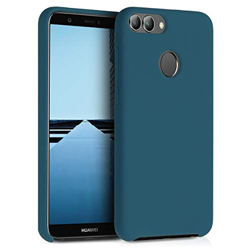 kwmobile Huawei Enjoy 7S / P Smart Hülle - Handyhülle für Huawei Enjoy 7S / P Smart - Handy Case in Petrol matt