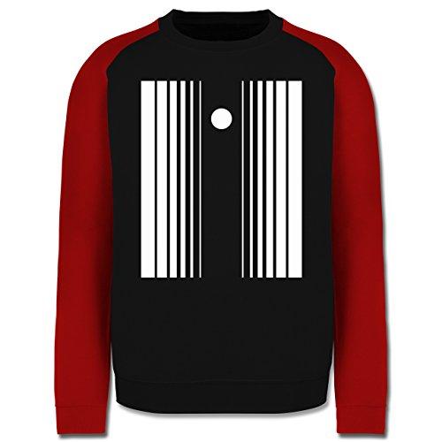 Karneval & Fasching - Doppler Effekt - L - Schwarz/Rot - JH033 - Herren Baseball Pullover