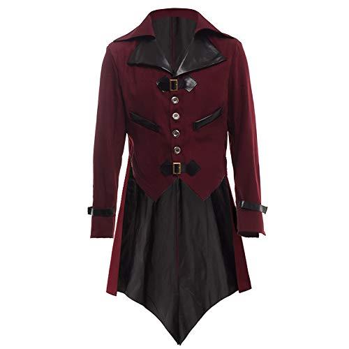 BLESSUME gotisch viktorianisch Frack Steampunk VTG Mantel Jacke Halloween Cosplay Kostüm (M, ()