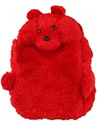 JBB Original Cute Teddy Soft Toy School Bag For Kids, Travelling Bag, Carry Bag, Picnic Bag, Teddy Bag (Cute Red).
