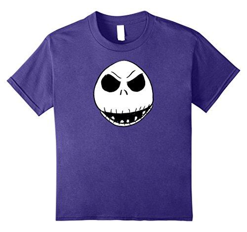Kinder Alptraum vor Weihnachten Jack's Face T-Shirt 8 Lila (Lila Weihnachten Jack)
