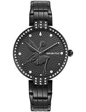 Taylor Cole Damen Armbanduhr Fee Fashion Design Schwarz Damenuhr TC092