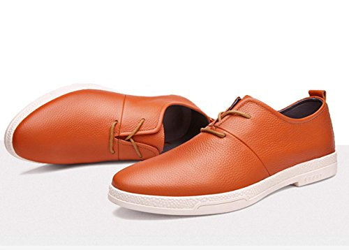 Business casual Schuhe Leder Spitze Schuhe minimalistische Schuhe Yellow