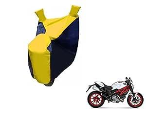 Flying On Wheels Bike Body Cover For Ducati Monster 796 S2R - Black/Yellow