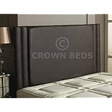 Chesterfield Hilton cabecero de cama, de piel sintética, marrón, 180 cm - Super king size