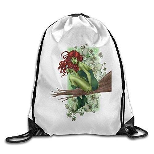 HLKPE Gym Poisonous Flowers Poison Ivy Comic Drawstring Backpack Bag (Ivy Poison Make-up)