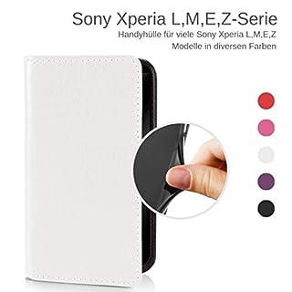 eSPee Handyhülle für Sony Xperia ✅ Z5 compact ✅ unzerbrechliche Schutzhülle aus Silikon mit Magnetverschluss und Fach Cremeweiß