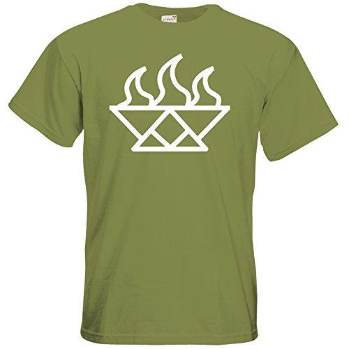 getshirts - Das Schwarze Auge - T-Shirt - Götter - Symbole - Ingerimm Green Moss
