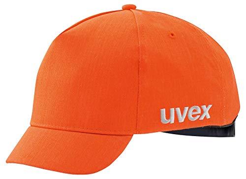 Uvex U-Cap Sport Hi-Viz Anstoßkappe - Kurzer Schirm - Warnorange - 55-59 cm 55-59 cm
