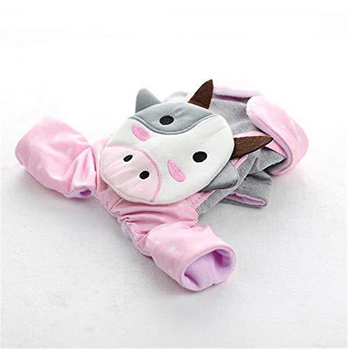 He-shop nuovo cotone matrimoniale cuccioli pet vestiti autunno e inverno vestito principessa quattro piedi cartoon cute plus velvet puppies forniture