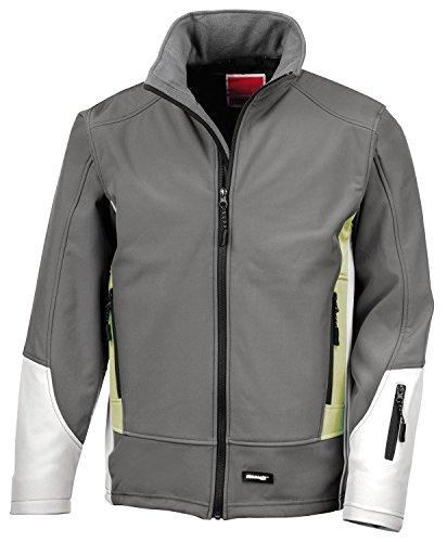 RT119 blade veste softshell imperméable et respirant en micropolaire à l'intérieur Gris - Charcoal-Pampas-Pale Grey