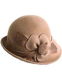 Amazon.it  fiori di feltro - Cappelli e cappellini   Accessori ... f6dc25001fd3